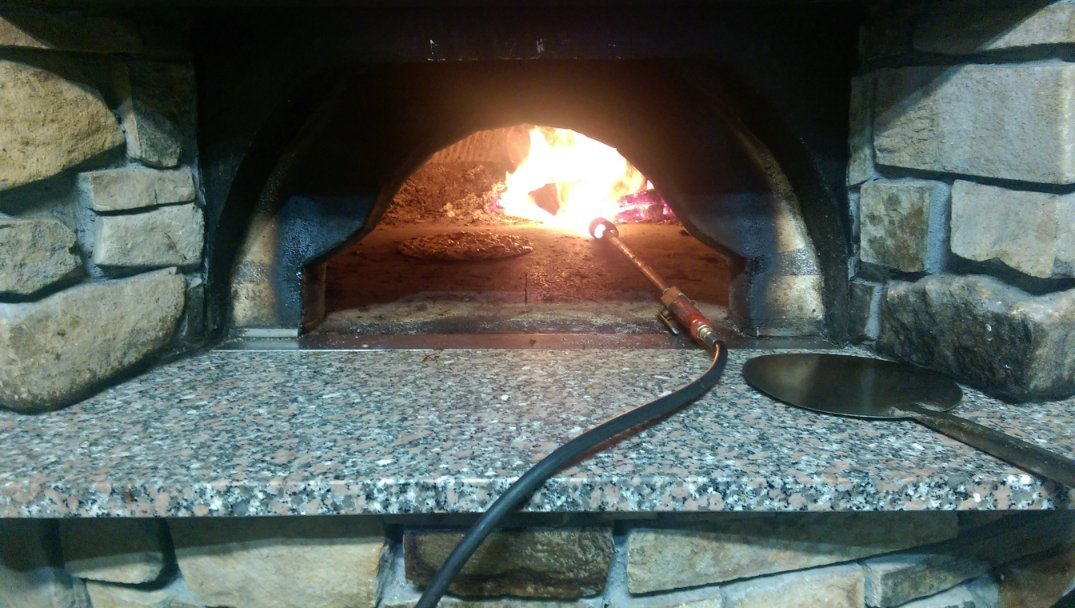 Lighting the Pizza Oven